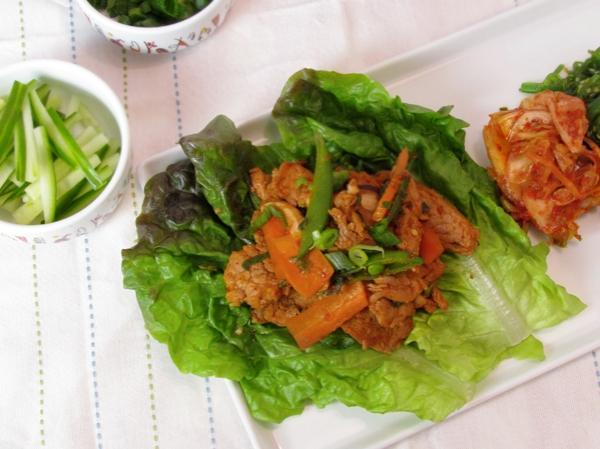 Korean Pork Lettuce Wraps   Allison Eats