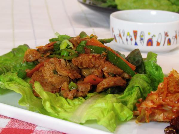 Korean Pork Lettuce Wraps from The Kimchi Chronicles